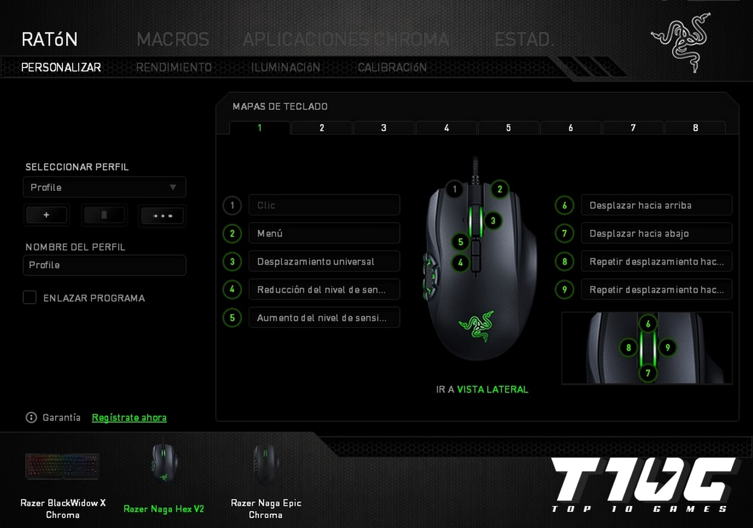 01 - Razer Naga Hex V2 - TOP10GAMES