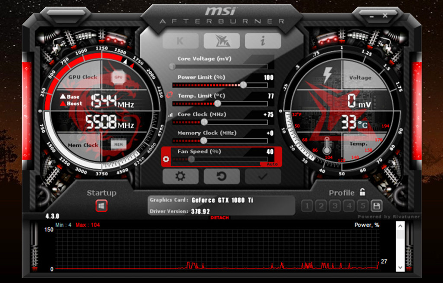 overclock msi afterburner