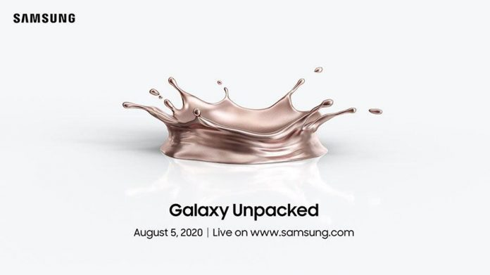 samsung galaxy note 20 evento unpacked