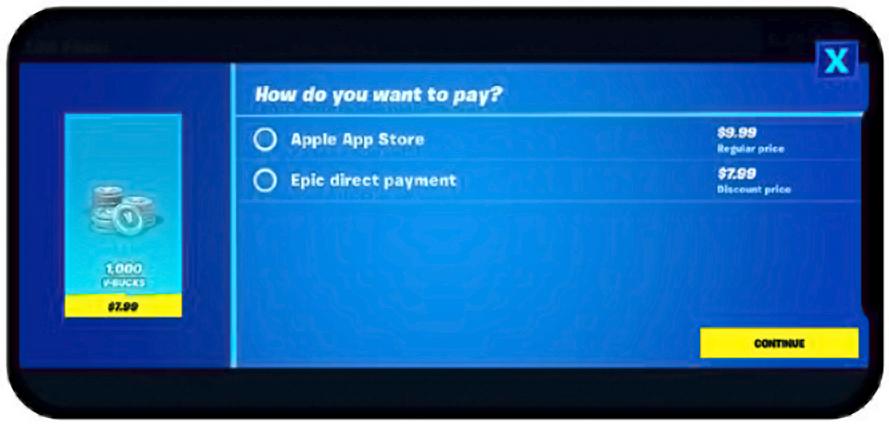 nuevo método de pago fortnite