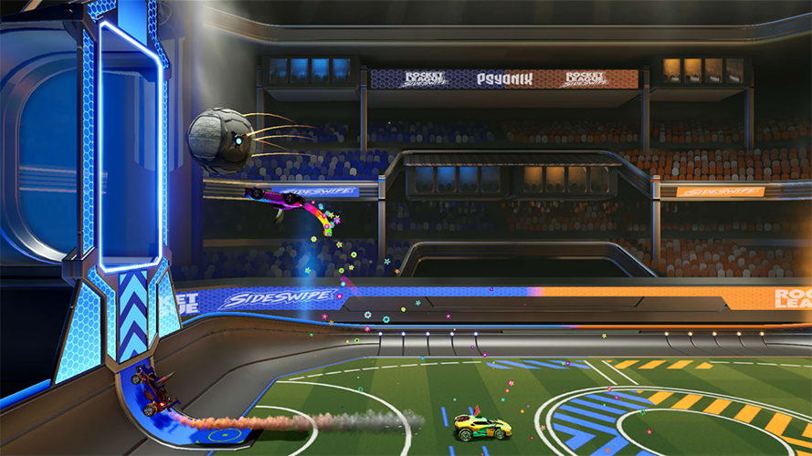 mecánicas juego rocket league sideswipe movil