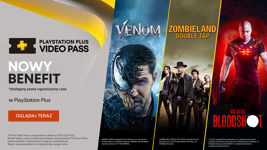 Películas de cine de playstation plus video pass
