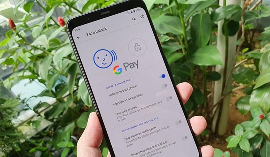 google pay reconocimiento facial